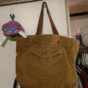 Green corduroy Gap bag